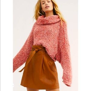 NEW FREE PEOPLE / BFF COWL NECK SOFT SWEATER